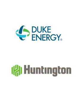 logos for Duke Energy and Huntington Bank