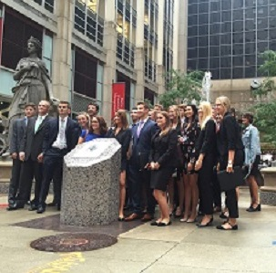 Students in Chicago for Finance Week