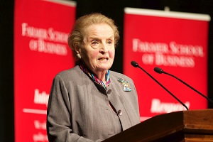 Madeleine Albright on stage
