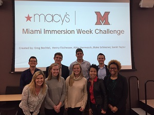 Immersion Week participants at Macy