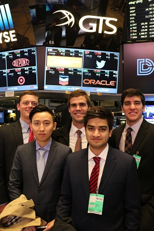 Miami students on Wall Street trading floor