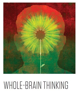 Whole brain thinking illustration