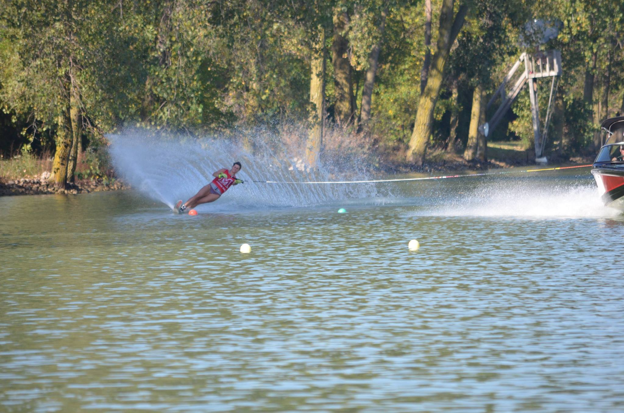 Miami water skier in action