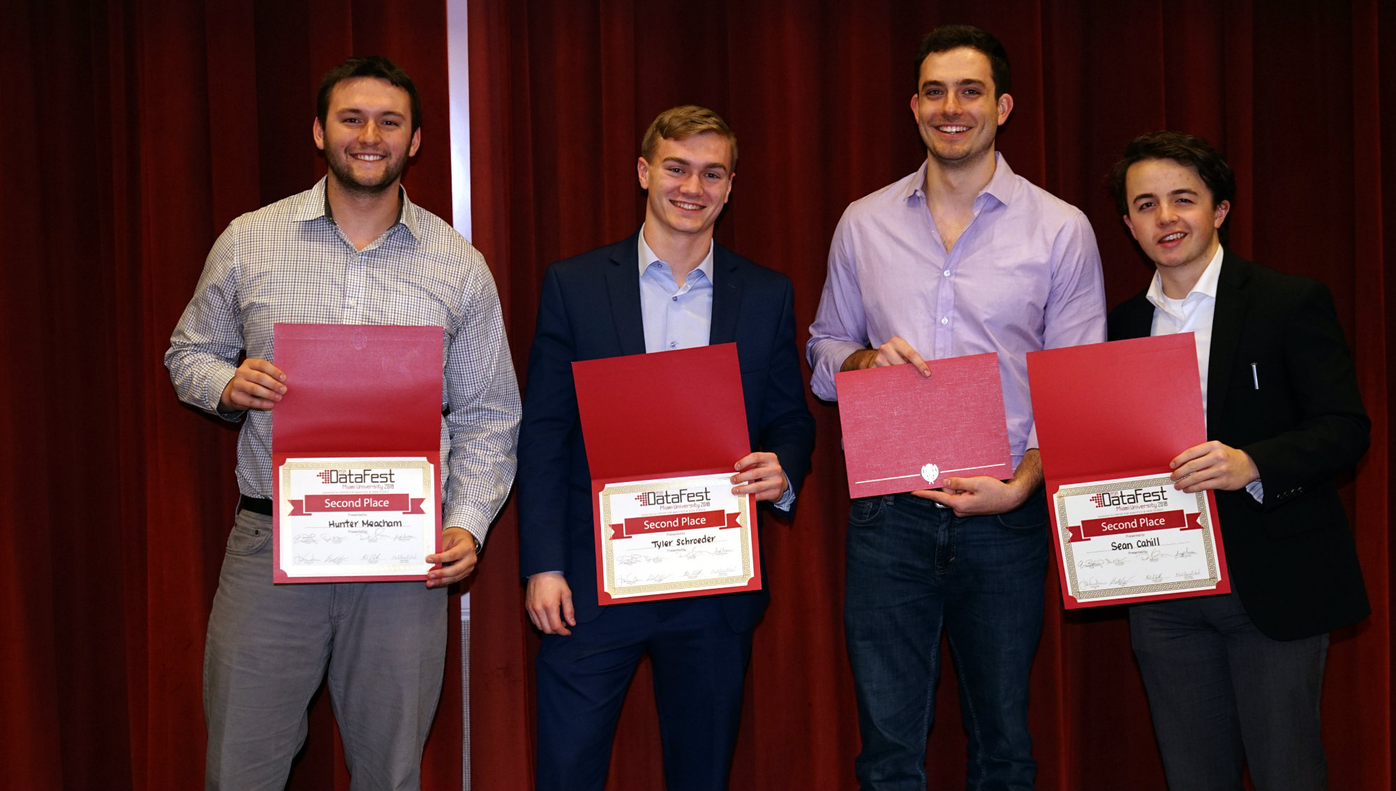 2nd place: How Big Is Your Data -- Sean Cahill, Peter Kalivas, Hunter Meacham, Tyler Schroeder