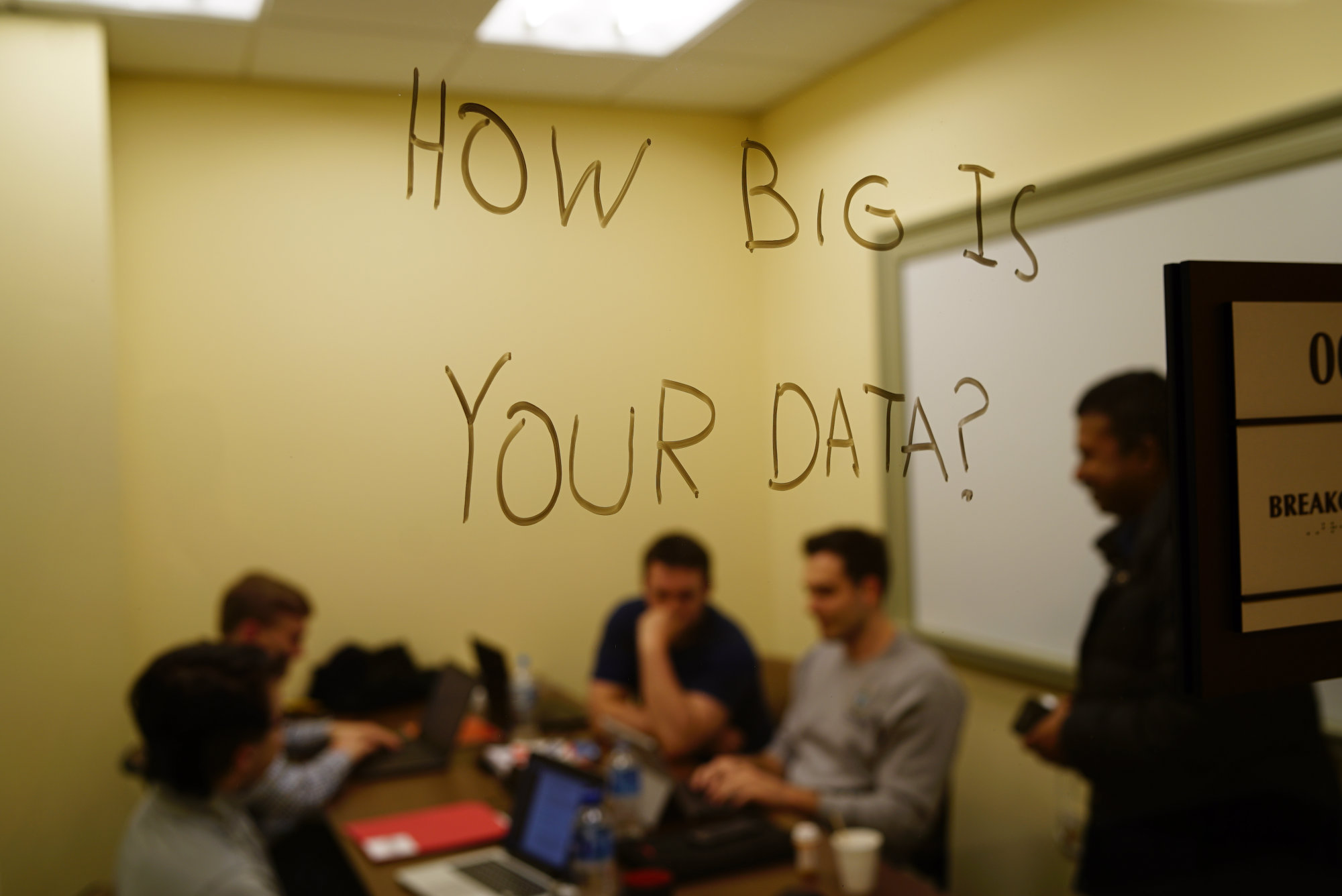 Runners-up How Big Is Your Data? working in a breakout room