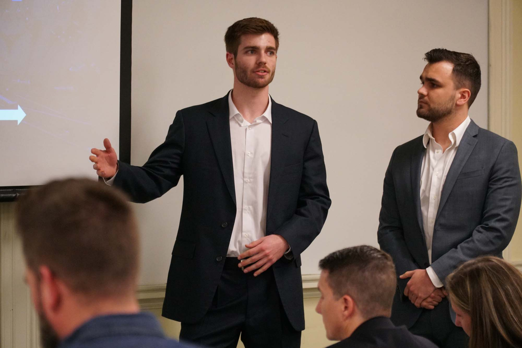 Part of Retooled team makes presentation at StartUp Pitch Competition