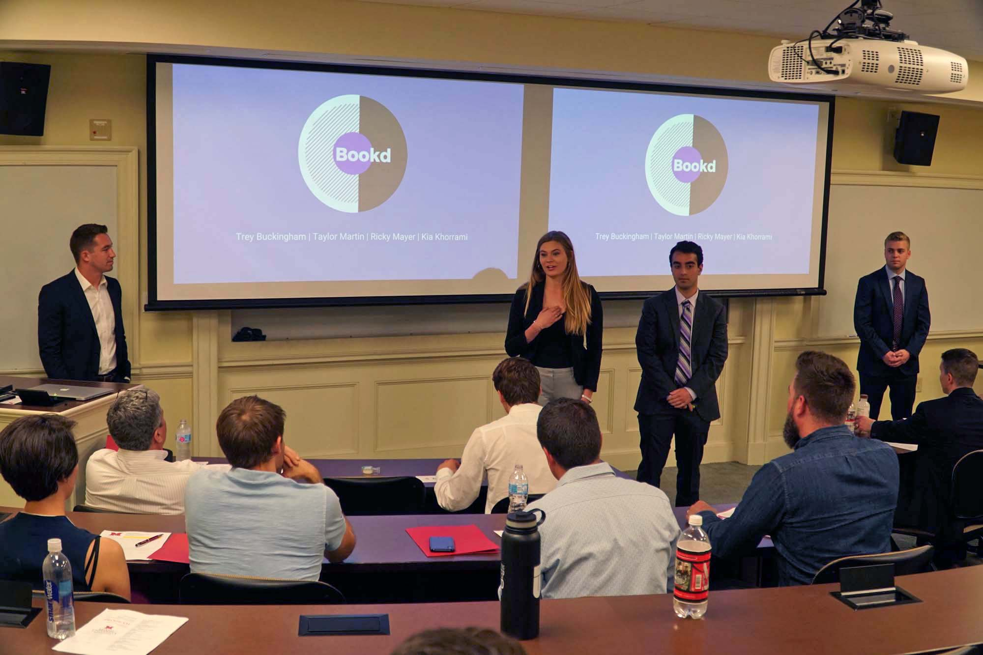 Team makes presentation at Startup Pitch Competition