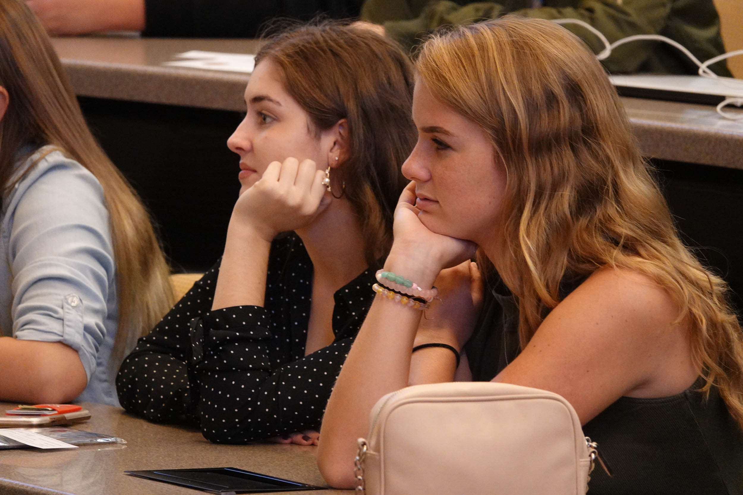 FSB students listen to Wendy Lea in Taylor Auditorium