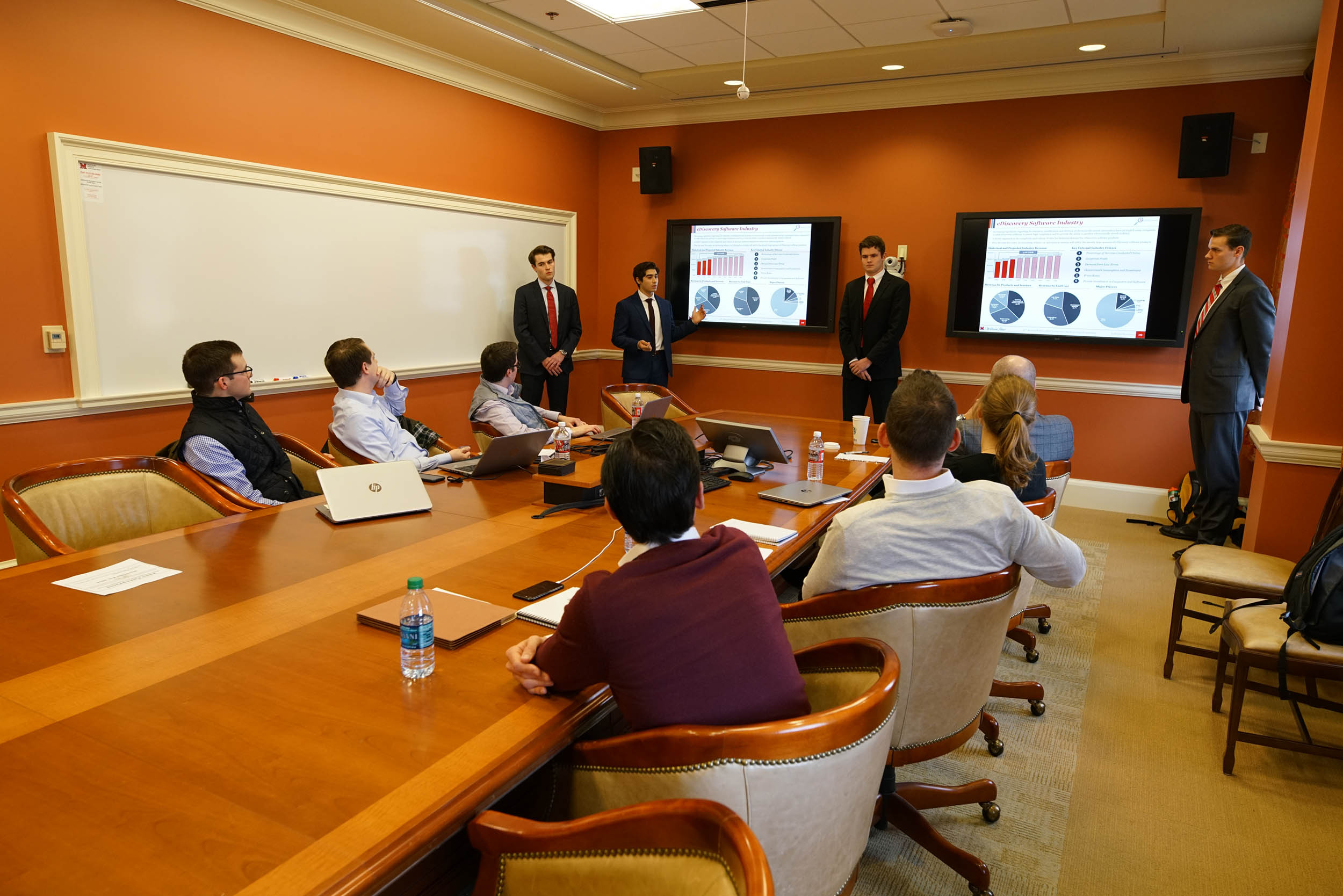Students make final presentation to William Blair executives